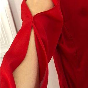 bebe Tops - BEBE sheer wrap bodysuit with slit sleeves